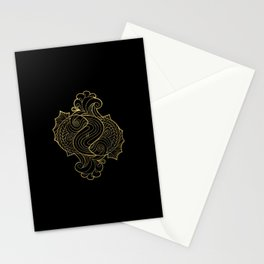Pisces Gold Stationery Cards
