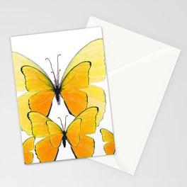 MODERN ART YELLOW BUTTERFLIES ABSTRACT Stationery Cards