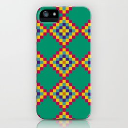 Green Tiles iPhone Case