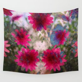 flowers abstract Wall Tapestry