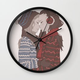 Under the Mistletoe Wall Clock