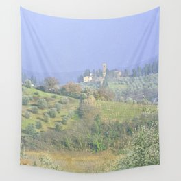 Vineyards Tuscany - Italy - Landscape and Rural Art Photography Wall Tapestry