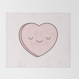 Pink Sweet Candy Heart Throw Blanket