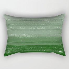 Forest Green Paint Gradient Rectangular Pillow
