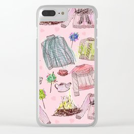 Autumn Winter Warmers Clear iPhone Case