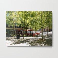 Street Cafes Metal Print