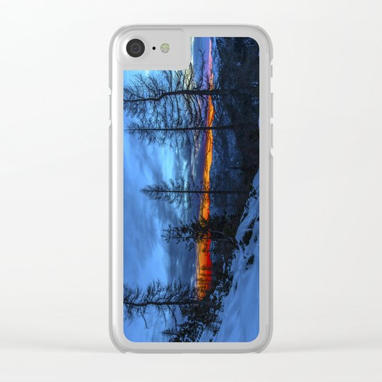 Warm Streak 1 Clear iPhone Case