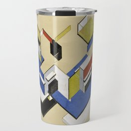 Theo van Doesburg - Contra-Construction Project (Axonometric) - Abstract De Stijl Painting Travel Mug