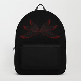 Archangel Lucifer with Wings Black Backpack