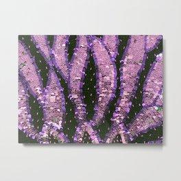 Orchid Pink Lavender Sequin Knit close Metal Print
