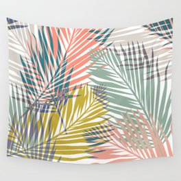 Pop Tropical Botanical Print Wall Tapestry