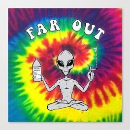 Far Out Alien (Tie Dye) Canvas Print