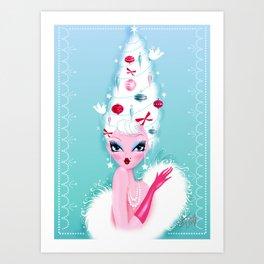 Christmas Coiffure Art Print