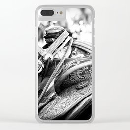 Get Back In The Saddle Clear iPhone Case