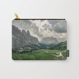 Mountain view and panorama road in the Italian Dolomites Carry-All Pouch