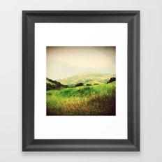 A Green Spring Framed Art Print