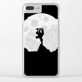 Skater Moon Clear iPhone Case