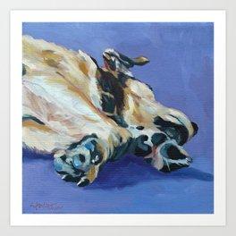 A Dog's Paws Portrait Art Print