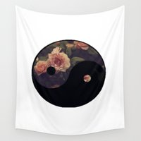 yin yang Wall Tapestries featuring Yin Yang by ChaileyCrowdis