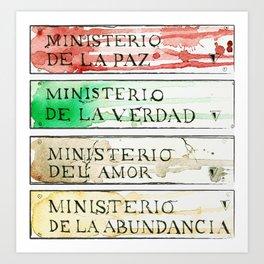 Ministerios 1984 Art Print
