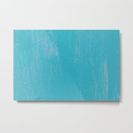 Blue Painted Wall Metal Print