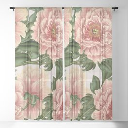 Peonies Sheer Curtain