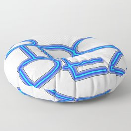 St. Tropez in blue neon Floor Pillow