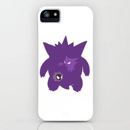 pokemongo ghost evolution illustration iPhone Case
