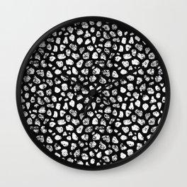 Crayon Rocks 06 | Black & White Wall Clock
