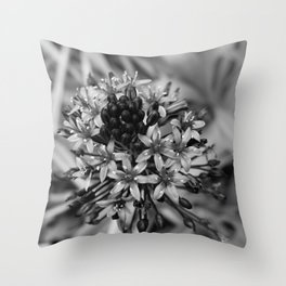 Portuguese Squill BW Throw Pillow