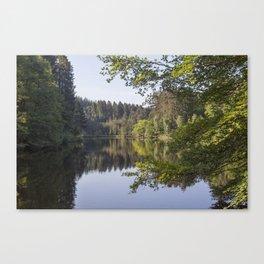 Morning reflections at Mallards Pike Canvas Print