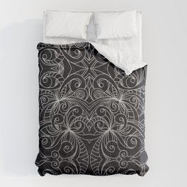 Drawing Floral Doodle G239 Comforters