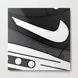 SNEAKERPILLOW - NIKE AIR MAX ONE /black, Grey, White Metal Print