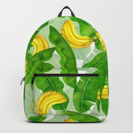 Bananas and leaves watercolor design Backpack
