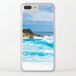 Wild Azur Clear iPhone Case