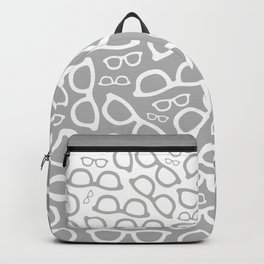 Smart Glasses Pattern - Grey Backpack