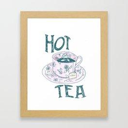 Hot Tea: I'm Cute AF & I Know It Framed Art Print
