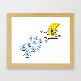 Sponge Attack! Framed Art Print