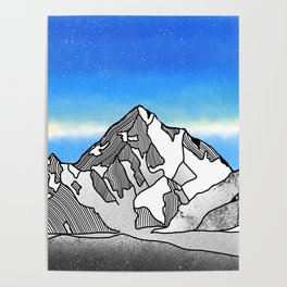 K2 MOUNTAIN LANDSCAPE Poster