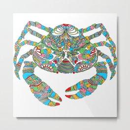 Abstract Crab Painting Metal Print