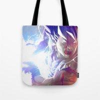 goku Tote Bags featuring Goku by MATT DEMINO