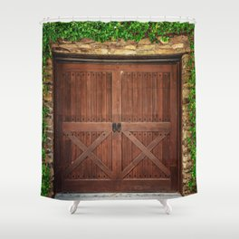 Door and Ivy Backdrop Shower Curtain