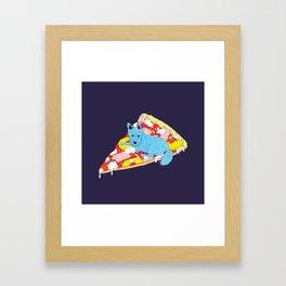Pizza Dog Framed Art Print