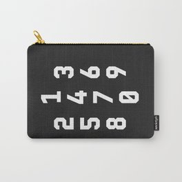 Typography Numbers #3 Carry-All Pouch