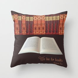 book lover Throw Pillow