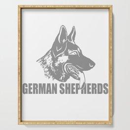 Count On German Shepherd Serving Tray