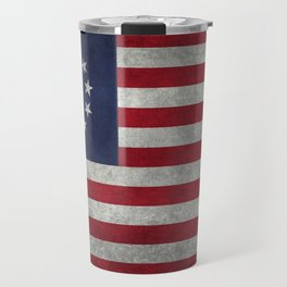 Betsy Ross flag - grungy Travel Mug