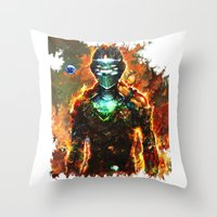 dead space Throw Pillows featuring dead space by ururuty