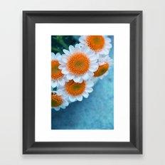 summer in orange Framed Art Print