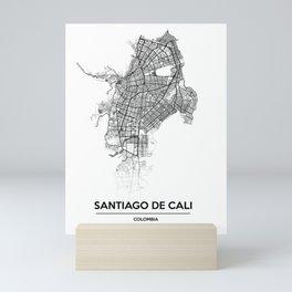 City map // Cali Colombia Mini Art Print